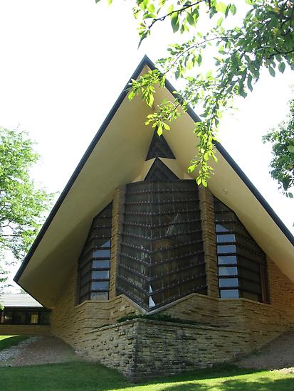 Unitarian Meeting House -- Madison, Wisconsin by AJ Belongia
