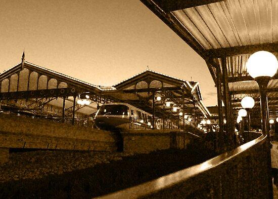 Magic Kingdom's Monorail by Philip  Brown