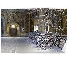 Bikes at Trinity Poster