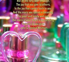 Giveaway heart thank you card by patjila