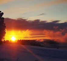 Sunset in a winter wonderland by SarahKippernes