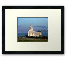 Oquirrh Mountain Temple Morning Light 20x24 Framed Print