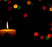 Christmas candle. by Edward Mahala