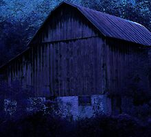 moonlit barn by StoneAge