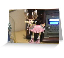 Dancing reindeer Greeting Card