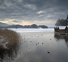 Winter Boathouses by Kasia-D