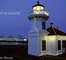 Mukilteo Lighthouse Christmas 2010 by Rhonda R Clements