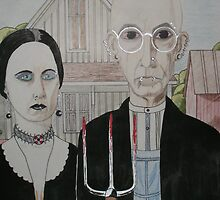 """Updated """" American Gothic"""" by artbyjay"""