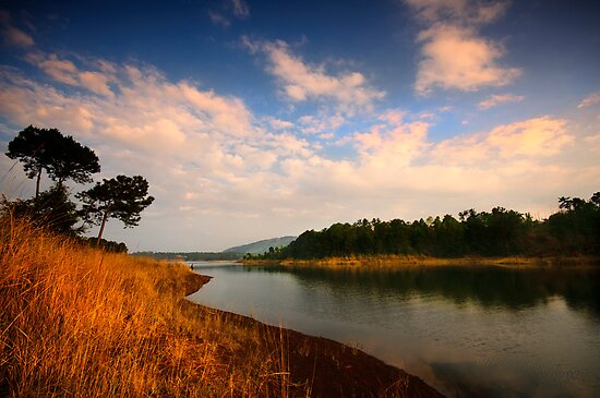 Late afternoon by Umiam by Vikram Franklin