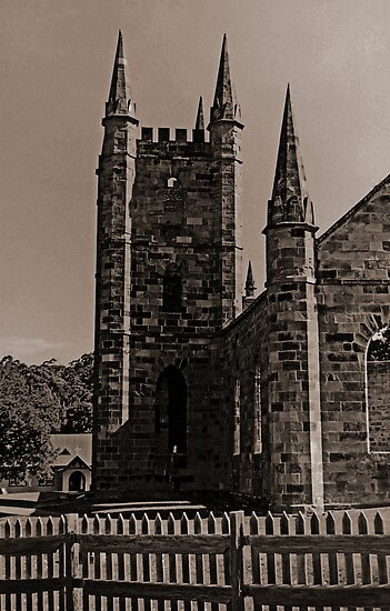 Old Church at Port Arthur by Andrew (ark photograhy art)