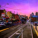 Bridge Road Sunset-Melbourne by Guntis Jansons