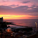 Sunset In Sea Point Cape Town by JandeBeer
