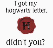 Hogwarts Letter by jgfox
