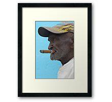 Cuban man, Trinidad, Cuba. Framed Print