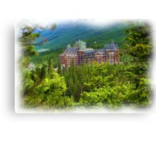 Banff Springs Hotel - Digital Oil-painting Canvas Print