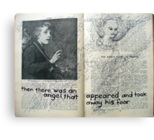 in the pages of a book Canvas Print