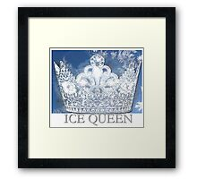 An Icey Crown Framed Print