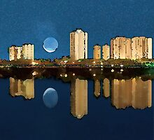Singer Island, Florida by Moonlight by Marion Daly