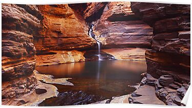 Reagans Pool - Karijini N.P.  Western Australia by Mark Shean