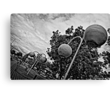 Donnybrook in Black and White Canvas Print
