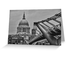 St Paul's Cathedral and Millennium Bridge Greeting Card