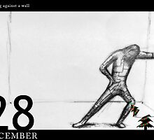 December 28th - Relaxing against a wall. by 365 Notepads -  School of Faces