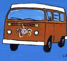 Orange VW camper by vschmidt