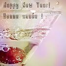 To the New Year!  (bilingual card) by Johanne Brunet