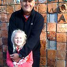 Happy Birthday my Dearest Brother - My Brother Robert and his daughter Olivia near Earth Wall by Anthea  Slade