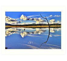 Mirror, Mirror On The Weir. Art Print