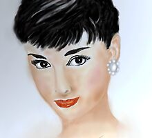 Portrait Audrey Hepburn by Trish Loader