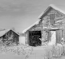 Winter Barn Scene by Joseph T. Meirose IV