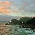 Heceta Head Dusk by RIDGEWORKS