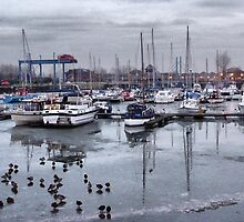 Preston Dock  by Lilian Marshall