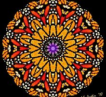 Monarch Butterfly Kaleidoscope by Carol F. Austin