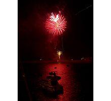 Jersey Fireworks Photographic Print