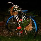 Antique Bike with Flowers by A. Kakuk
