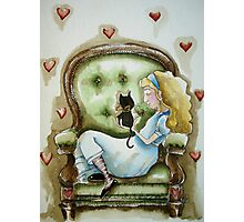 Alice and Dinah's kitten Photographic Print