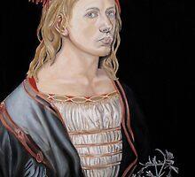 "Copy of ""Self-portait at 22"" by Albrecht Dürer 1493 by Jennifer Herrin"