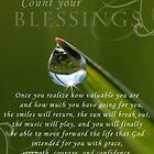 Blessings~ Original Macro waterdrop wall Art by bfphotoart