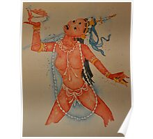 Vajrayogini, the Tibetan Buddhist Dakini Goddess Poster
