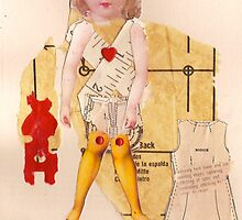 Anatomy of a doll 15 by Thelma Van Rensburg