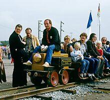 First electric train, Bochum, Germany, 1985. by David A. L. Davies