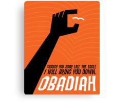 Word: Obadiah Canvas Print