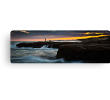 Rock Fishing - Norah Head Canvas Print