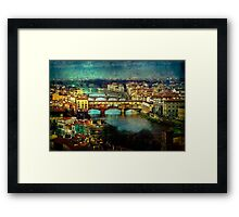 Florence late afternoon Framed Print