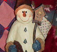 A Warm Country Snowman by © Betty E Duncan ~ Blue Mountain Blessings Photography