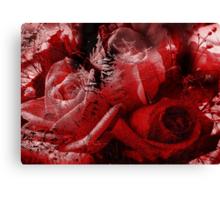 Frozen Roses Canvas Print
