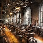 Machinst - A room full of Lathes  by Mike  Savad