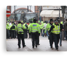 English Defence League Demo, Leicester Canvas Print